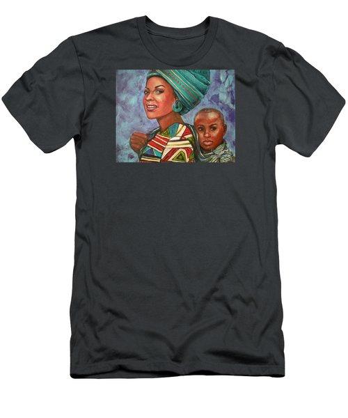 Mother And Son Men's T-Shirt (Slim Fit) by Alga Washington
