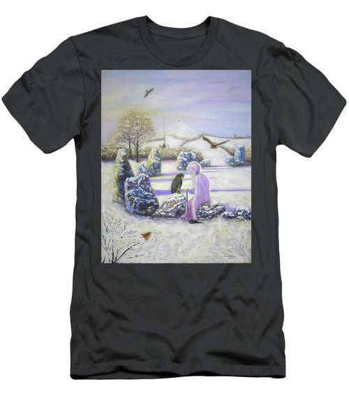 Mother Of Air Goddess Danu - Winter Solstice Men's T-Shirt (Athletic Fit)
