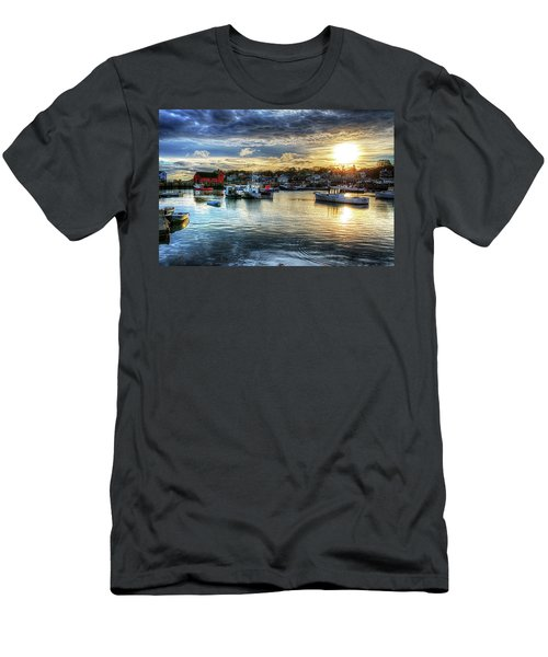 Motif #1 Sunrise Rockport Ma Men's T-Shirt (Athletic Fit)