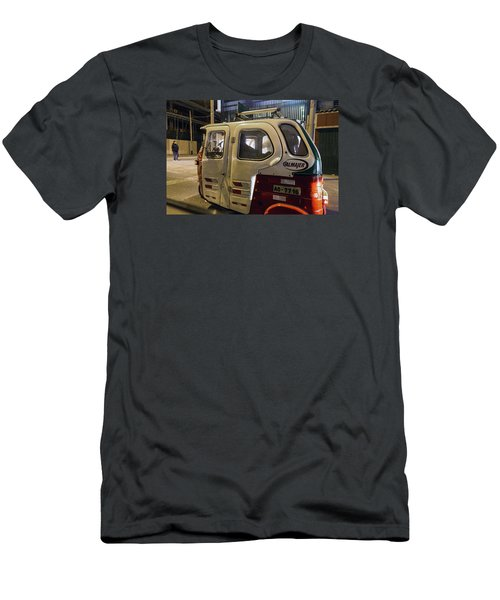 Motorcycle Cab In Lima, Peru Men's T-Shirt (Athletic Fit)
