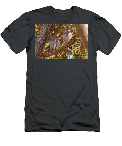 Mottled Wood Owls, India Men's T-Shirt (Athletic Fit)