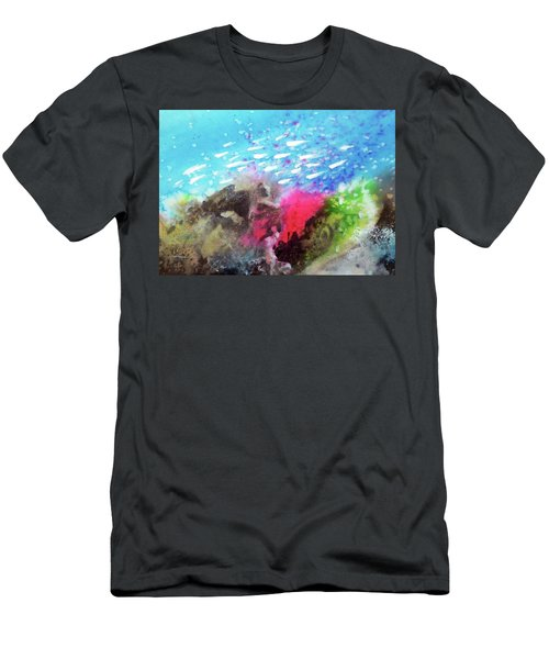 Men's T-Shirt (Slim Fit) featuring the painting Motu Anua by Ed Heaton