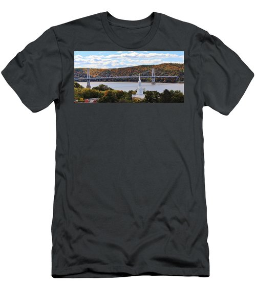 Mount Carmel And The Mid Hudson Bridge Men's T-Shirt (Athletic Fit)