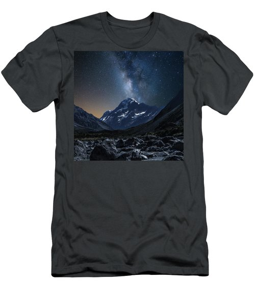 Mount Cook At Night Men's T-Shirt (Slim Fit) by Martin Capek
