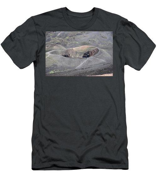Mount Etna Caldera Men's T-Shirt (Athletic Fit)