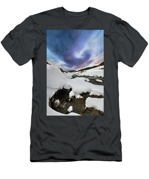 Mount Hood In Winter Men's T-Shirt (Athletic Fit)