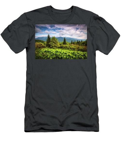 Mount Mitchell Asheville Nc Blue Ridge Parkway Mountains Landscape Men's T-Shirt (Athletic Fit)