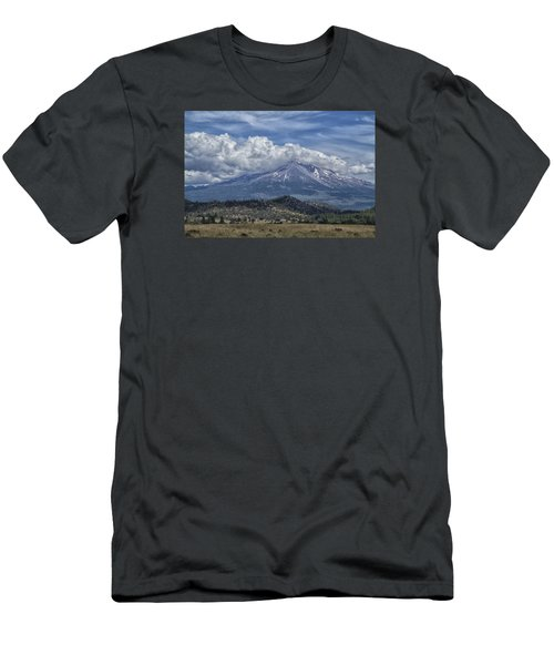 Men's T-Shirt (Slim Fit) featuring the photograph Mount Shasta 9950 by Tom Kelly
