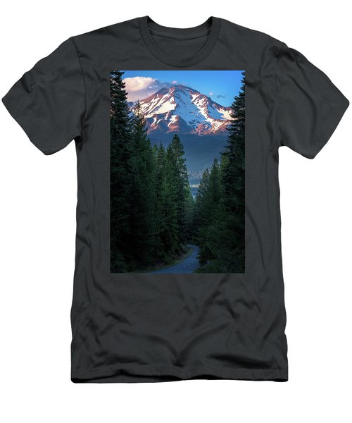 Men's T-Shirt (Athletic Fit) featuring the photograph Mount Shasta - A Roadside View by John Hight
