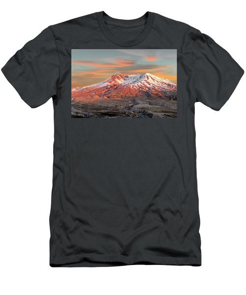 Mount St Helens Sunset Washington State Men's T-Shirt (Athletic Fit)