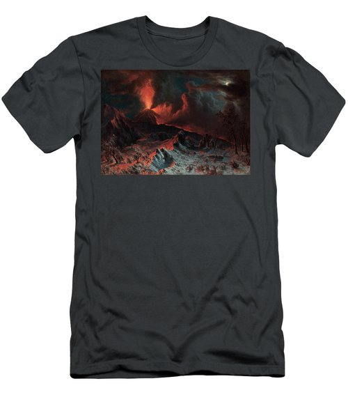 Mount Vesuvius At Midnight Men's T-Shirt (Athletic Fit)