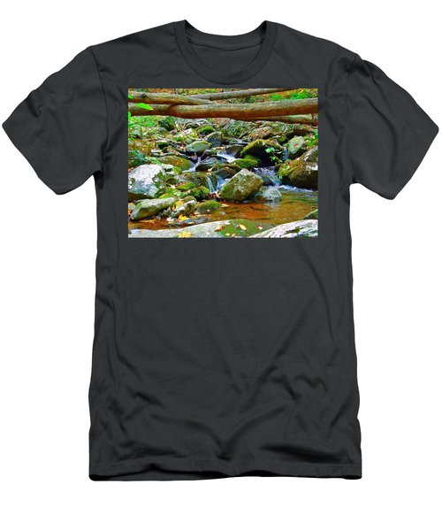Mountain Appalachian Stream 2 Men's T-Shirt (Athletic Fit)