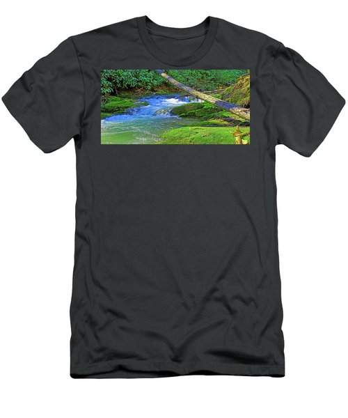 Mountain Appalachian Stream Men's T-Shirt (Athletic Fit)