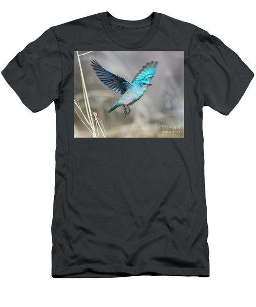 Mountain Blue Men's T-Shirt (Athletic Fit)