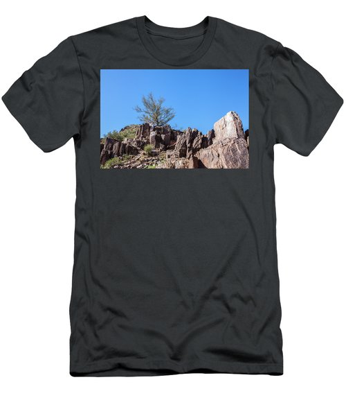 Mountain Bush Men's T-Shirt (Slim Fit) by Ed Cilley