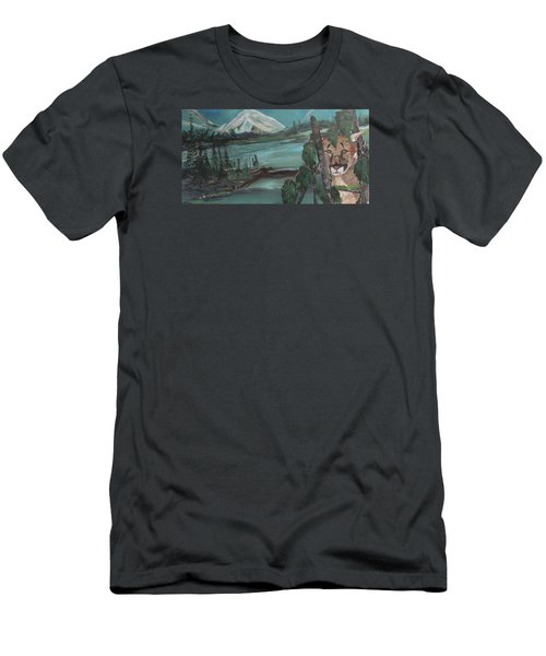 Mountain Cat Men's T-Shirt (Athletic Fit)