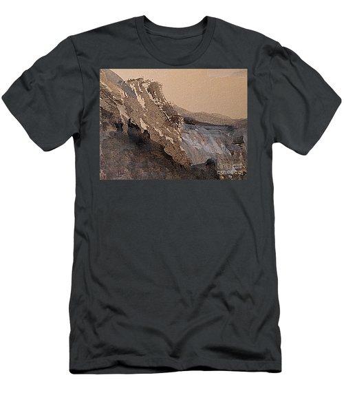 Mountain Cliff Men's T-Shirt (Slim Fit) by Nancy Kane Chapman