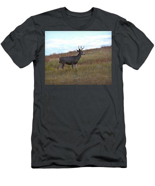 Mountain Climbing Deer Men's T-Shirt (Athletic Fit)