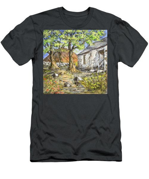 Mountain Cottage Men's T-Shirt (Slim Fit) by Marty Garland