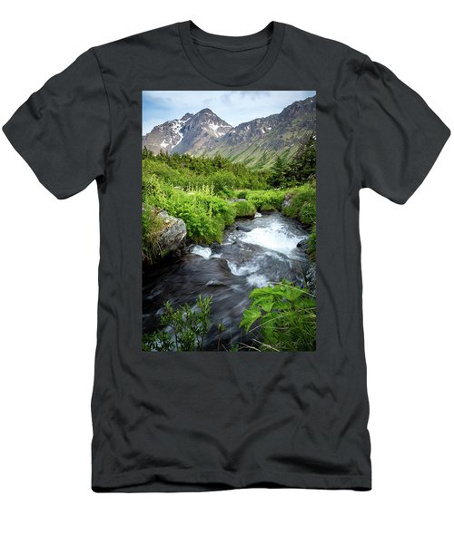 Mountain Creek In Early Summer Men's T-Shirt (Athletic Fit)