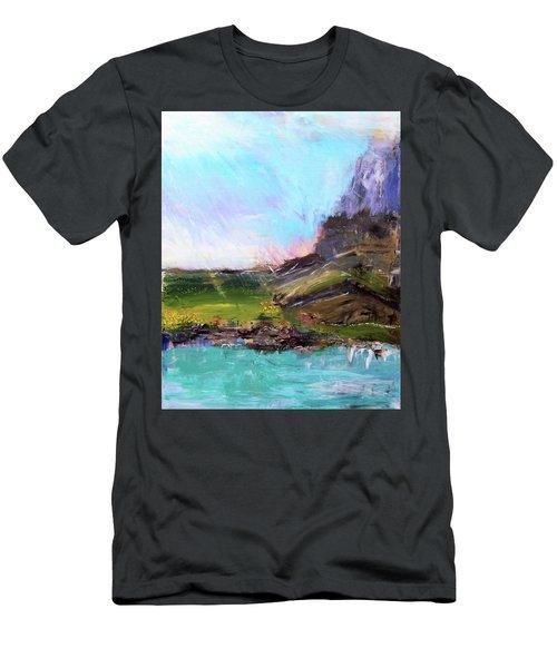 Mountain Fenceline Men's T-Shirt (Athletic Fit)