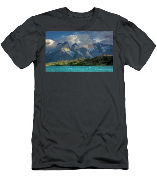 Men's T-Shirt (Slim Fit) featuring the photograph Mountain Glimmer by Andrew Matwijec