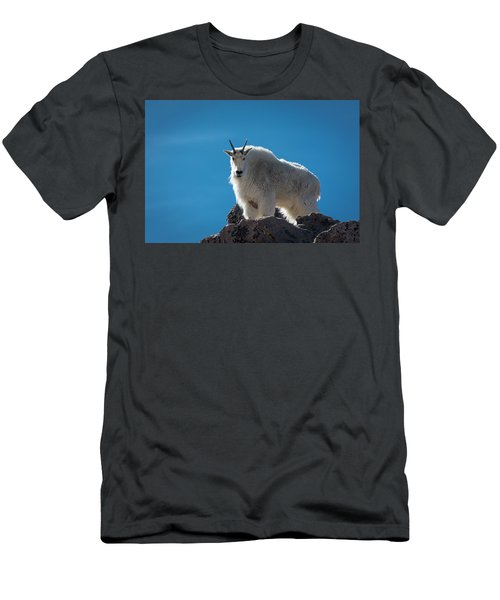 Men's T-Shirt (Athletic Fit) featuring the photograph Mountain Goat 3 by Gary Lengyel