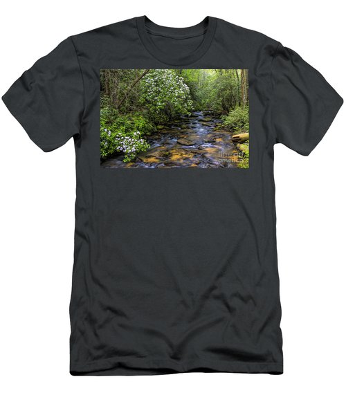 Mountain Laurels Light Up Panther Creek Men's T-Shirt (Athletic Fit)