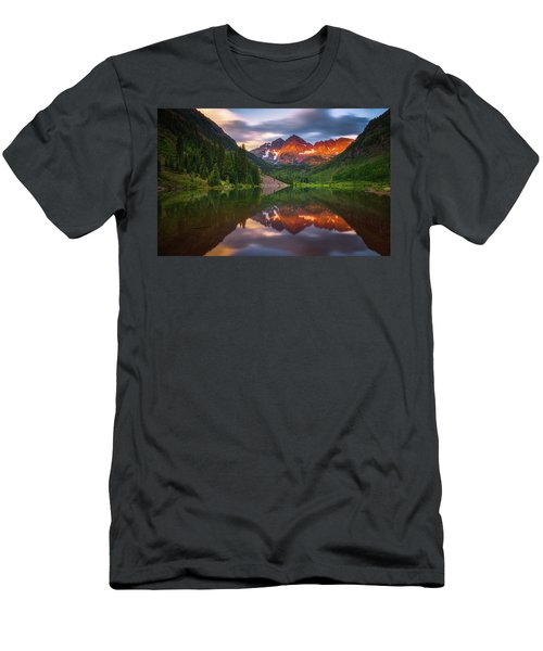 Men's T-Shirt (Athletic Fit) featuring the photograph Mountain Light Sunrise by Darren White
