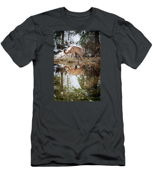 Mountain Lion Reflection Men's T-Shirt (Athletic Fit)