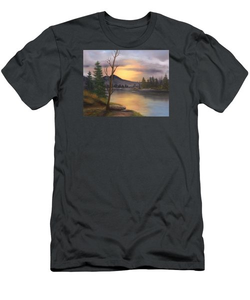 Mountain Paradise Men's T-Shirt (Slim Fit) by Sheri Keith