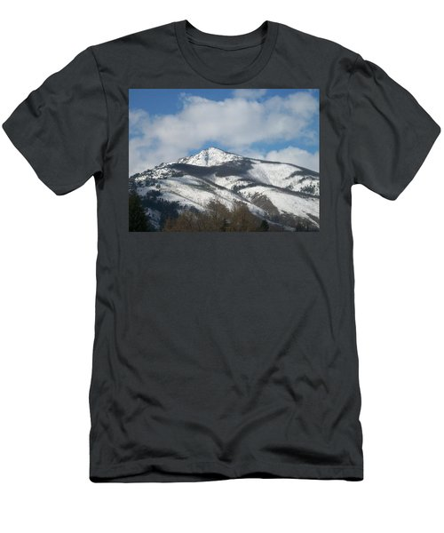Men's T-Shirt (Slim Fit) featuring the photograph Mountain Peak by Jewel Hengen
