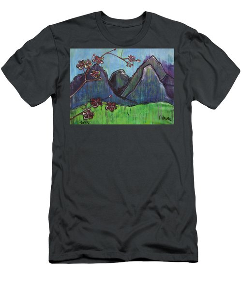 Copper Mountain Pose Men's T-Shirt (Athletic Fit)