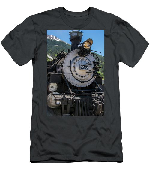 Men's T-Shirt (Athletic Fit) featuring the photograph Mountain Ride by Colleen Coccia