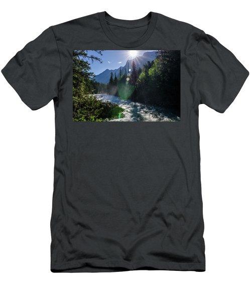 Mountain Sunburst Men's T-Shirt (Athletic Fit)