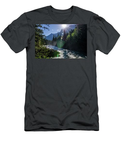 Mountain Sunburst Men's T-Shirt (Athletic Fit)