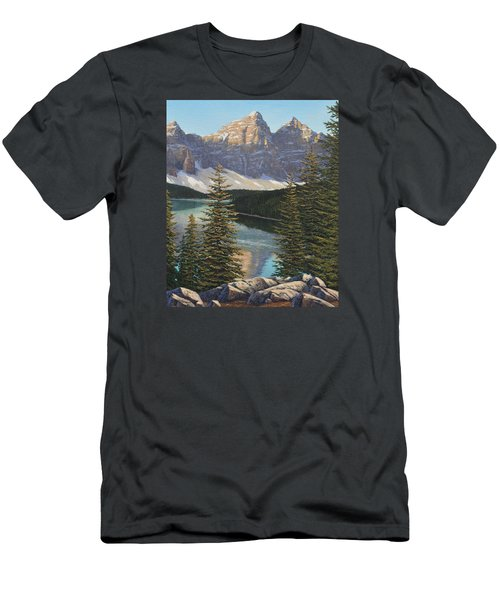 Mountain Sunrise Men's T-Shirt (Athletic Fit)