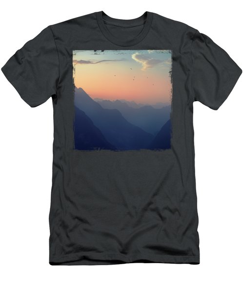 Mountain Sunrise - Pastel Alps Men's T-Shirt (Athletic Fit)