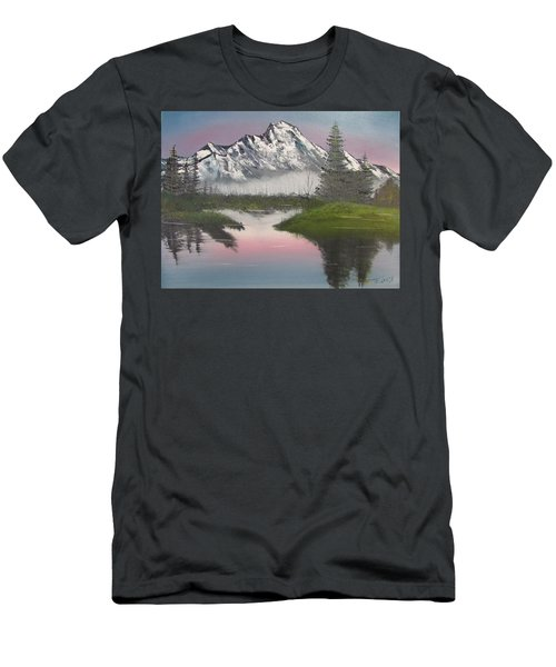 Mountain Sunset Men's T-Shirt (Slim Fit) by Thomas Janos