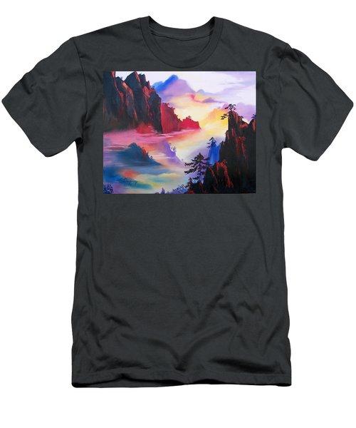 Mountain Top Sunrise Men's T-Shirt (Athletic Fit)