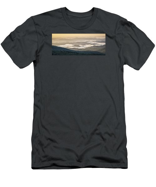 Mountain Valley Fog - Blue Ridge Parkway Men's T-Shirt (Athletic Fit)