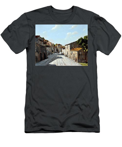Mountain Village Main Street Men's T-Shirt (Athletic Fit)