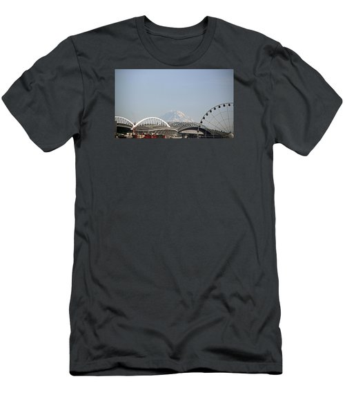 Mountains And City Men's T-Shirt (Athletic Fit)