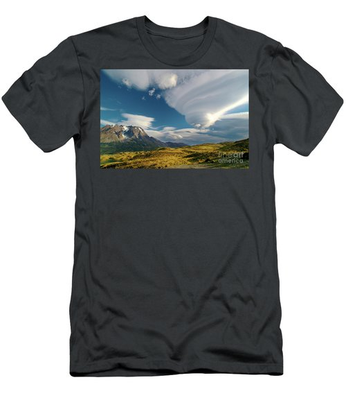 Mountains And Lenticular Cloud In Patagonia Men's T-Shirt (Athletic Fit)