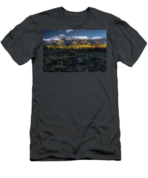 Mountains At Sunrise - 0381 Men's T-Shirt (Athletic Fit)