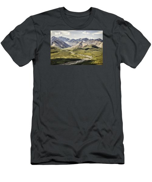 Mountains In Denali National Park Men's T-Shirt (Athletic Fit)