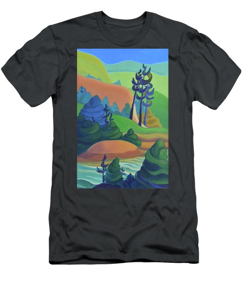 Hills In Spring Men's T-Shirt (Athletic Fit)