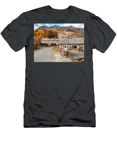 Mountains In The Back Yard Men's T-Shirt (Athletic Fit)