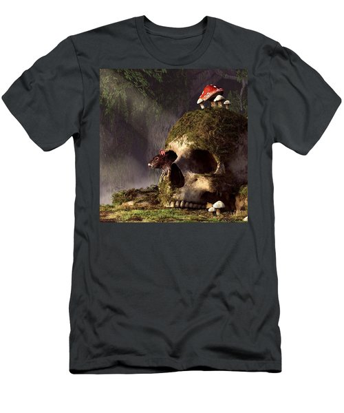 Mouse In A Skull Men's T-Shirt (Athletic Fit)