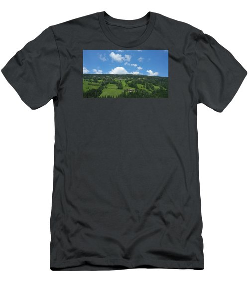 Moutain With Blue Sky Men's T-Shirt (Athletic Fit)